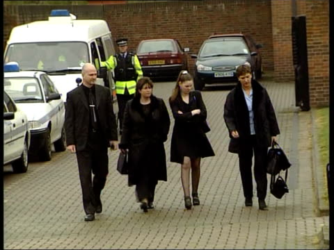 norfolk norwich crown court members of fred barras' family including his mother ellen arriving at court ms police car carrying defendent tony martin... - fred barras stock videos & royalty-free footage