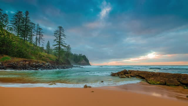 norfolk island, south pacific - south pacific ocean stock videos & royalty-free footage