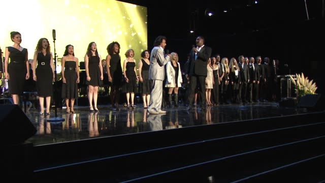 PERFORMANCE Norm Lewis and Johnny Mathis at the George Clooney Hosts MPTF's 95th Anniversary Celebration on October 1 2016 in Woodland Hills...