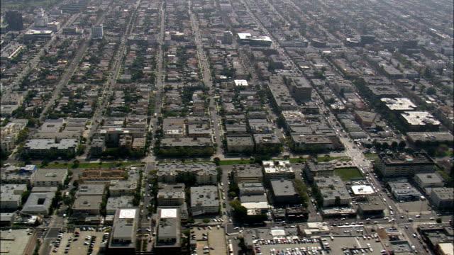 Norma-Dreieck und Pacific Design Center - Luftbild - Kalifornien, Los Angeles County, Vereinigte Staaten von Amerika