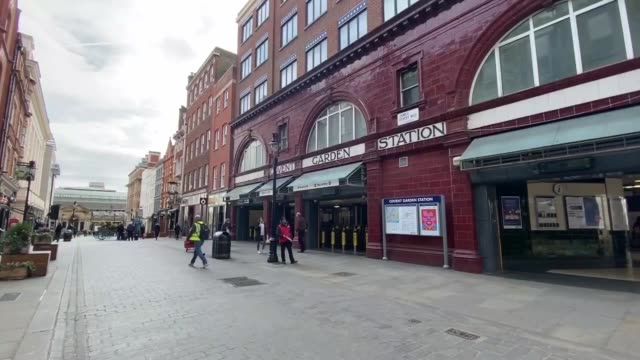 normally crowded central london is almost empty on march 17 2020 a day after authorities said that 55 people have died from coronavirus streets and... - high street stock videos & royalty-free footage