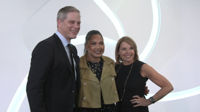 norman de greve ayesha curry and katie couric at cvs pharmacy unveils new beauty aisles featuring unaltered brand partner 2019 beauty campaigns at... - cvs caremark stock videos and b-roll footage