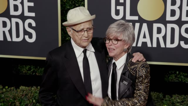 Norman Lear and Rita Moreno at the 75th Annual Golden Globe Awards at The Beverly Hilton Hotel on January 07 2018 in Beverly Hills California