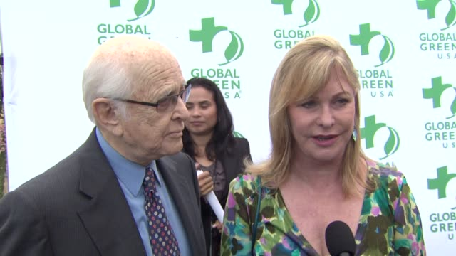 norman lear and wife lyn davis on what they appreciate most about global green why they wanted to be a part of the event what first made them care... - norman lear stock videos and b-roll footage