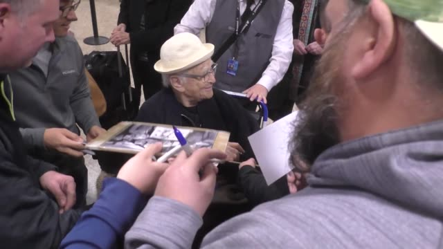 norman lear at sundance film festival at salt lake city airport in salt lake city utah in celebrity sightings in park city - norman lear stock videos and b-roll footage