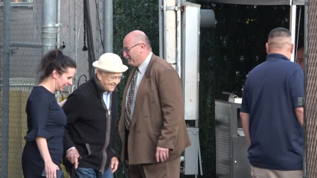 norman lear leaves jimmy kimmel live at el capitan theatre in hollywood in celebrity sightings in los angeles - norman lear stock videos and b-roll footage