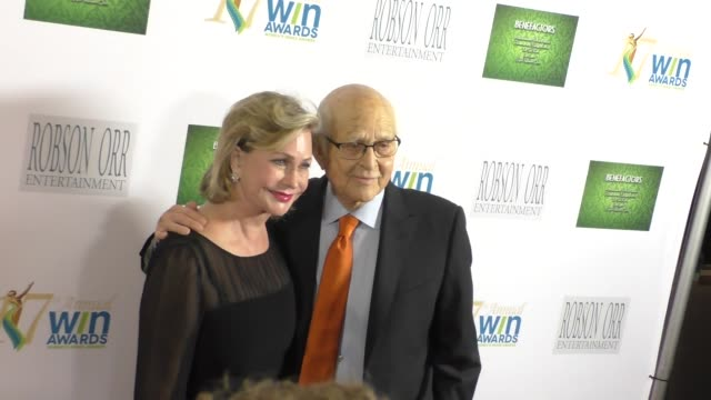 norman lear lyn lear at the 17th annual women's image awards at royce hall in westwood celebrity sightings on february 10 2016 in los angeles... - norman lear stock videos and b-roll footage