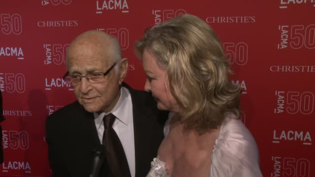 interview norman lear on his love of lacma and on the importance of lacma at lacma's 50th anniversary gala at lacma on april 18 2015 in los angeles... - norman lear stock videos and b-roll footage