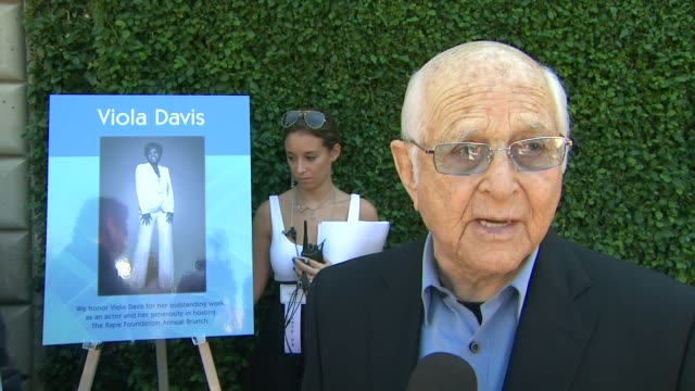 norman lear on what it means to him to be recognized at rape treatment center's annual fundraising brunch on 10/14/12 in beverly hills ca - norman lear stock videos and b-roll footage