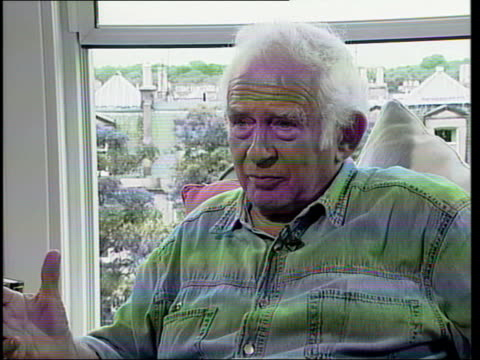 norman mailer interview; c4n: alex thomson itn scotland: edinburgh: int 2 shot norman mailer interviewed sot - his time in office was licking the... - soap opera stock videos & royalty-free footage