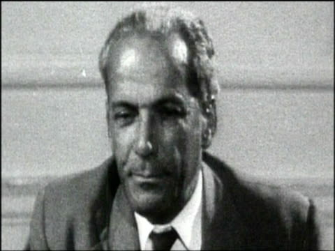 norman manley chief minister of jamaica discusses recent racial tension in notting hill during visit to britain sep 58 - bbc archive stock-videos und b-roll-filmmaterial