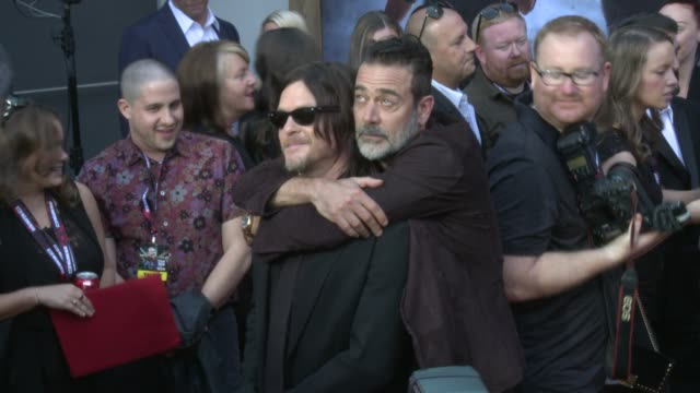 Norman Reedus and Jeffrey Dean Morgan at the AMC's The Walking Dead 100th Episode Season 8 Special Premiere Screening at The Greek Theatre on October...