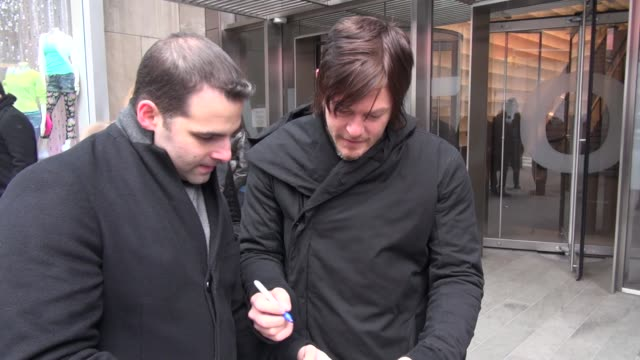 norman reedus at the vh1 studio norman reedus at the vh1 studio on february 20 2013 in new york new york - vh1 stock videos & royalty-free footage