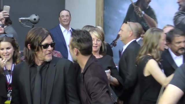 Norman Reedus Jeffrey Dean Morgan at AMC's The Walking Dead 100th Episode Season 8 Special Premiere Screening at The Greek Theatre on October 22 2017...