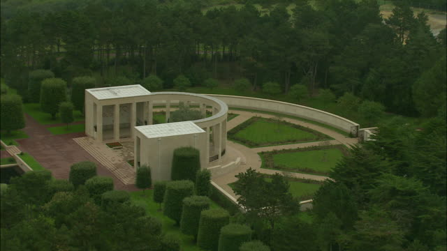 AERIAL, Normandy American Cemetery and Memorial, Colleville-sur-Mer, Normandy, France