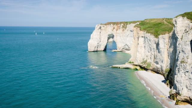 Normandy cliffs time  lapse