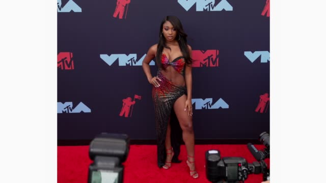 normani at 2019 mtv video music awards at prudential center on august 26, 2019 in newark, new jersey. - mtv video music awards stock videos & royalty-free footage