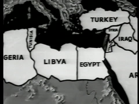 north africa & the middle east. from morocco algeria tunisia libya egypt to map of middle eastern countries. - 1951 stock videos & royalty-free footage