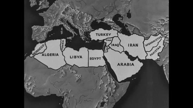 vídeos y material grabado en eventos de stock de map north africa the middle eastpan from morocco algeria tunisia libya egypt to map of middle eastern countries persian gulf - golfo pérsico