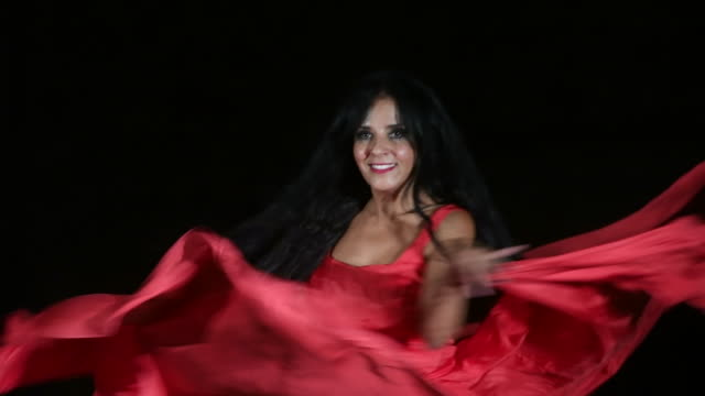 north african dancer with red dress - red dress stock videos & royalty-free footage