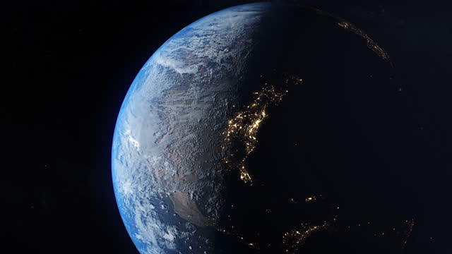 north america from space - zoom in stock videos & royalty-free footage