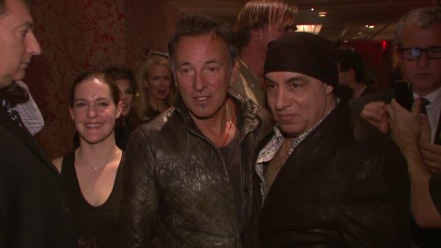 north american premiere of lilyhammer, a netflix original series at crosby street hotel on 02/01/12 in new york - スティーブン ヴァン ザント点の映像素材/bロール