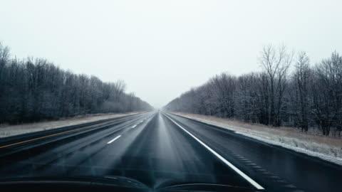 north american winter road trip - winter stock videos & royalty-free footage