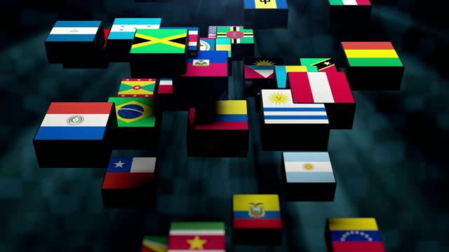 vídeos de stock e filmes b-roll de north and south america flag - ucrânia bandeira