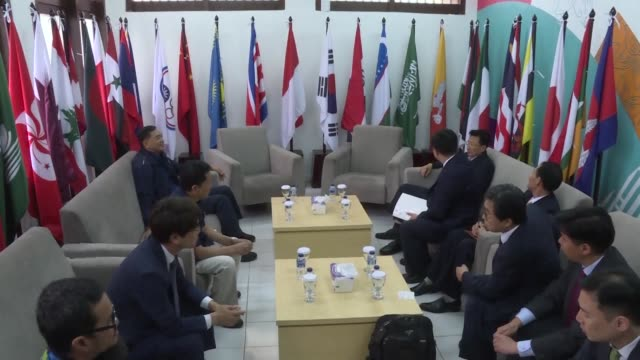 north and south korea will field joint teams in three sports canoeing rowing and women's basketball at the asian games organisers say in the latest... - diplomacy stock videos and b-roll footage