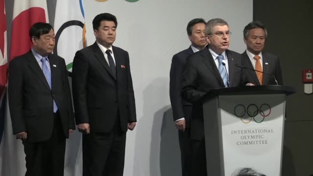 North and South Korea will march together under the Korean unification flag at next month's Winter Games in the South the International Olympic...