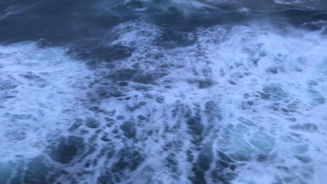 north atlantic rough sea travelling from denmark to faeroe islands - north atlantic ocean stock videos & royalty-free footage