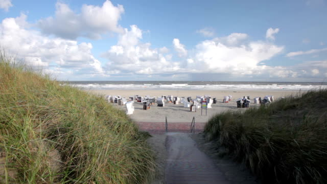 north beach, norderney - north frisian islands stock videos & royalty-free footage