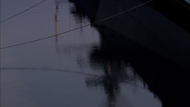 uss north carolina  - aerial view - north carolina,  brunswick county,  united states - moored stock videos & royalty-free footage