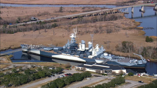 USS North Carolina - Luftbild - North Carolina, Brunswick County, Vereinigte Staaten