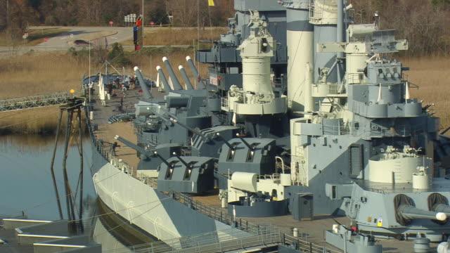 MS AERIAL DS USS North Carolina Battleship Museum / North Carolina, United States