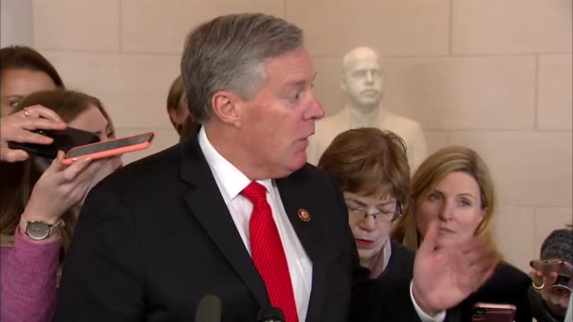north carolina congressman mark meadows engages reporters outside the first house select intelligence committee impeachment hearings about whether... - 0 11 months stock videos & royalty-free footage