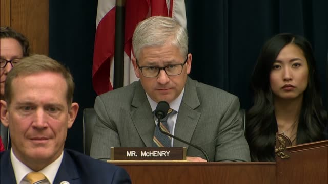 north carolina congressman patrick mchenry says at a house financial services committee hearing with mark zuckerberg of facebook to discuss libra... - big tech stock videos & royalty-free footage
