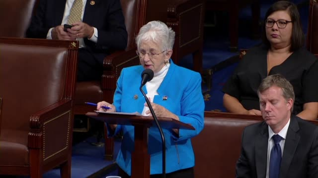 north carolina congresswoman virginia foxx says in debate on a bill to gradually raise the federal minimum wage to 15 dollars dollars that as... - carolina del nord stato usa video stock e b–roll