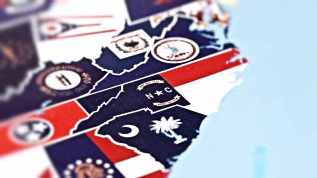 north carolina - stati uniti - carolina del nord stato usa video stock e b–roll