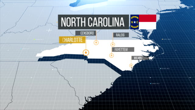 North carolina map with label then with out label