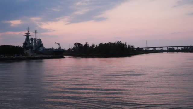 USS North Carolina on the river Fear in Wilmington NC