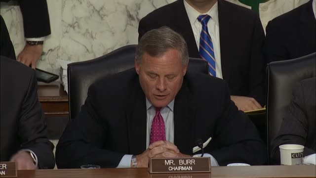 North Carolina Senator Richard Burr gavels in a hearing with former FBI director James Comey saying he looks forward to candid testimony Burr says...