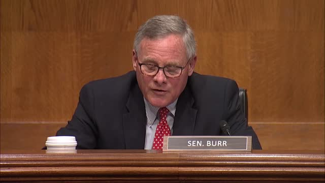 north carolina senator richard burr says at senate help committee nomination hearing with xavier becerra nominated to be hhs secretary that as a... - distorted stock videos & royalty-free footage