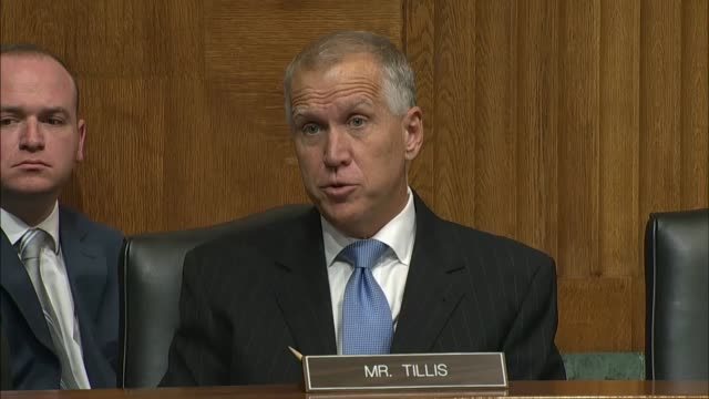 north carolina senator thom tillis asks nominee for director of the federal bureau of investigation christopher wray about equitable sharing and... - christopher a. wray stock videos & royalty-free footage