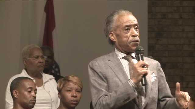 ktvi north county st louis residents packed into the greater st marks family church to hear reverend al sharpton and community leaders talk about... - al sharpton stock videos & royalty-free footage
