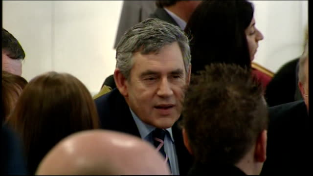 gordon brown mp chatting alan johnson mp listening pull focus douglas alexander mp in foreground - douglas alexander stock videos & royalty-free footage