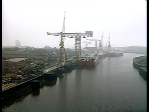 north east shipbuilders bid rejected c4n sunderland northeast shipbuilders tgv shipyards with cranes ms shipyard building with 'north east... - tyne and wear stock videos & royalty-free footage