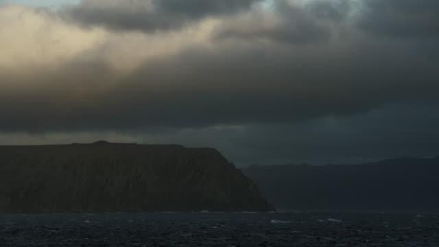 vidéos et rushes de north end of little diomede island - partie d'une série