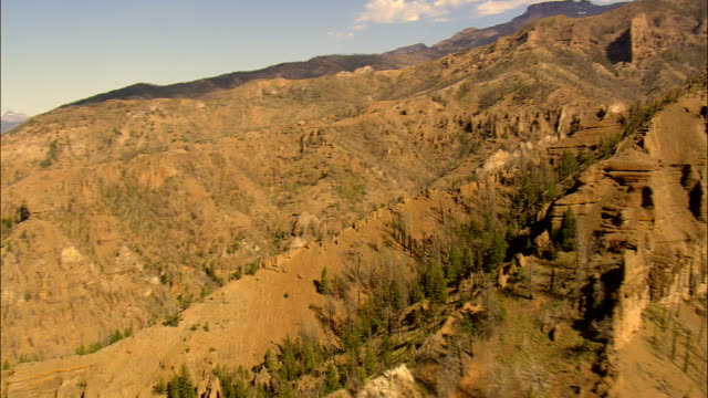 North Fork Shoshone River And Mountains  - Aerial View - Wyoming,  Park County,  helicopter filming,  aerial video,  cineflex,  establishing shot,  United States