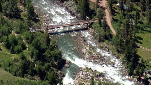 North Fork Sun River - Aerial View - Montana, Lewis and Clark County, United States